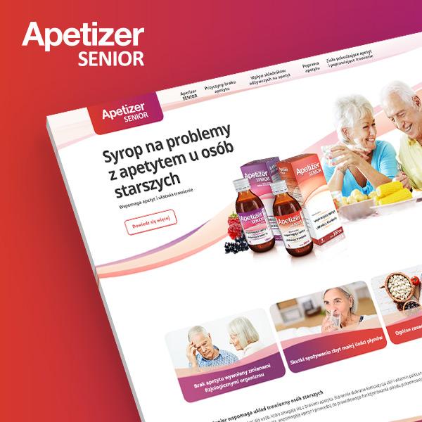 Apetizer Senior - strona produktowa zrealizowana przez Quality Pixels