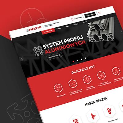 Strona internetowa Arma