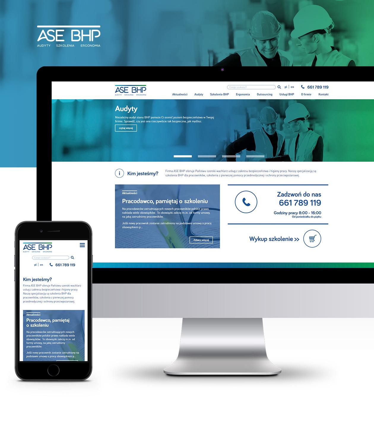 Projekt strony internetowej ASE BHP