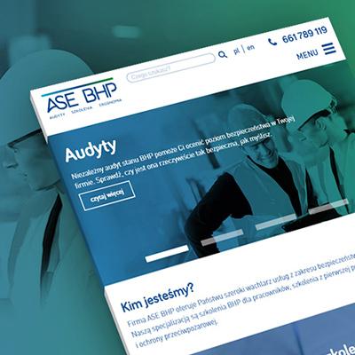 Strona internetowa ASE BHP