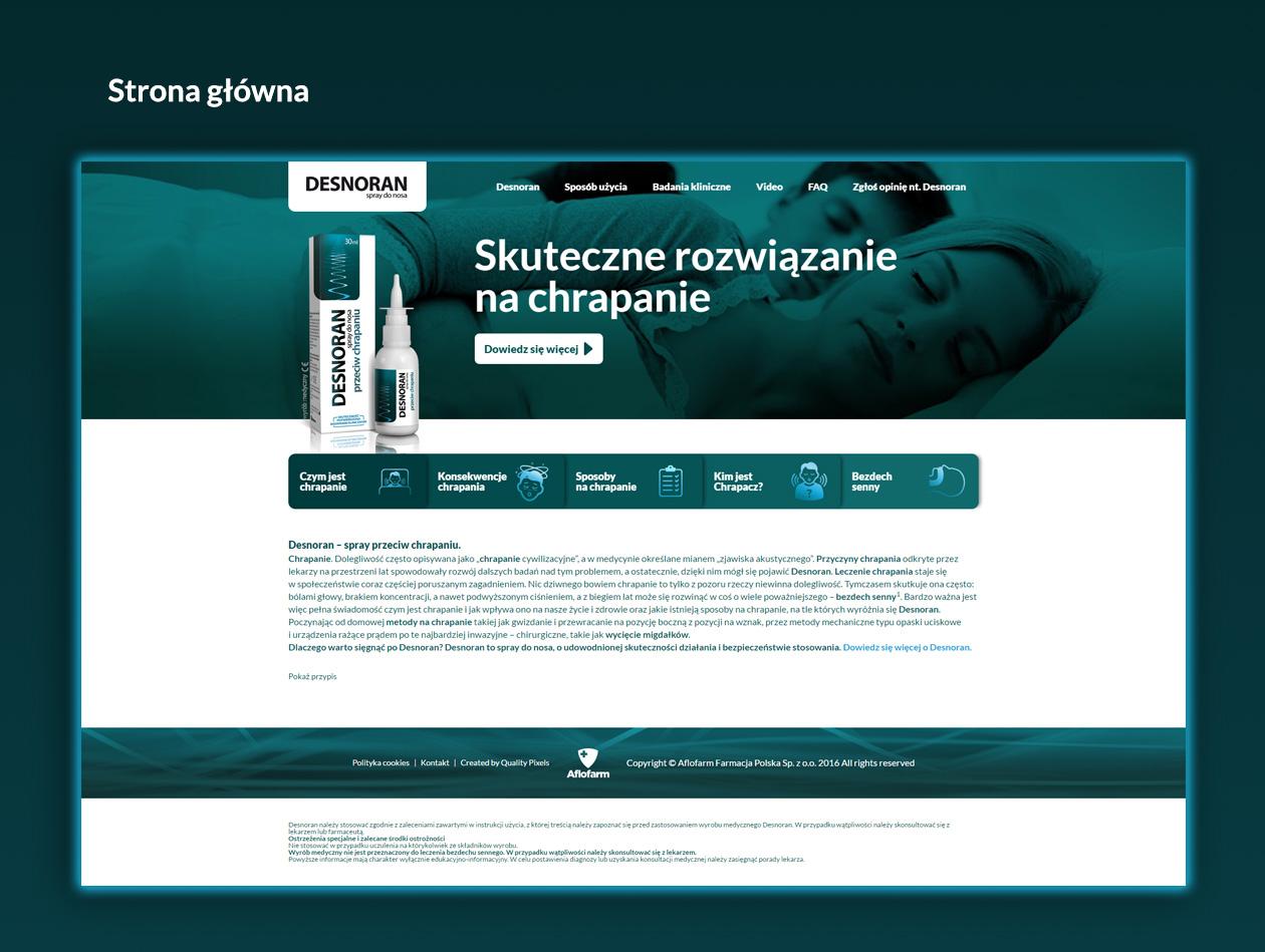 Projekt strony internetowej Desnoran