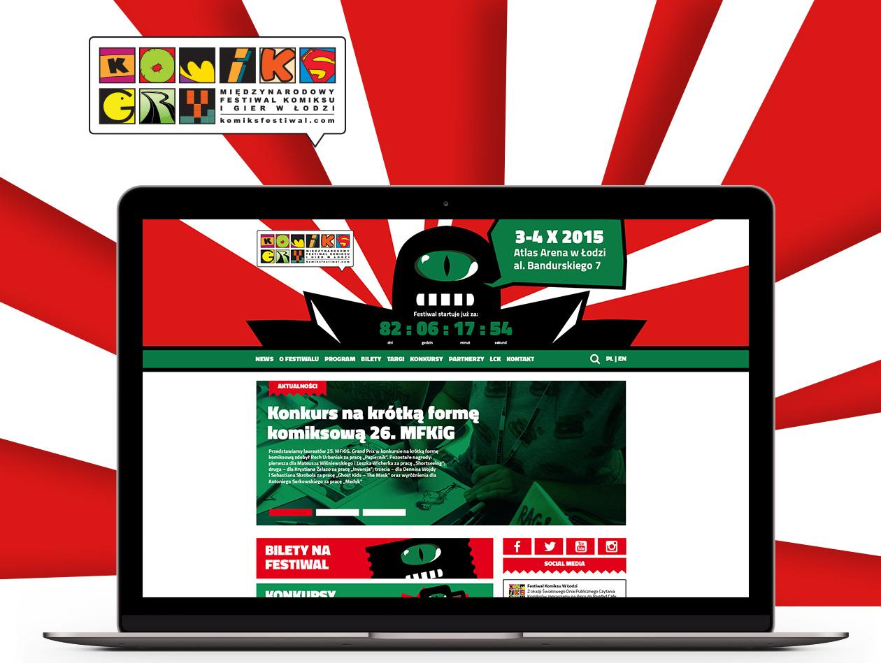 Projekt strony internetowej Festiwal Komiksu