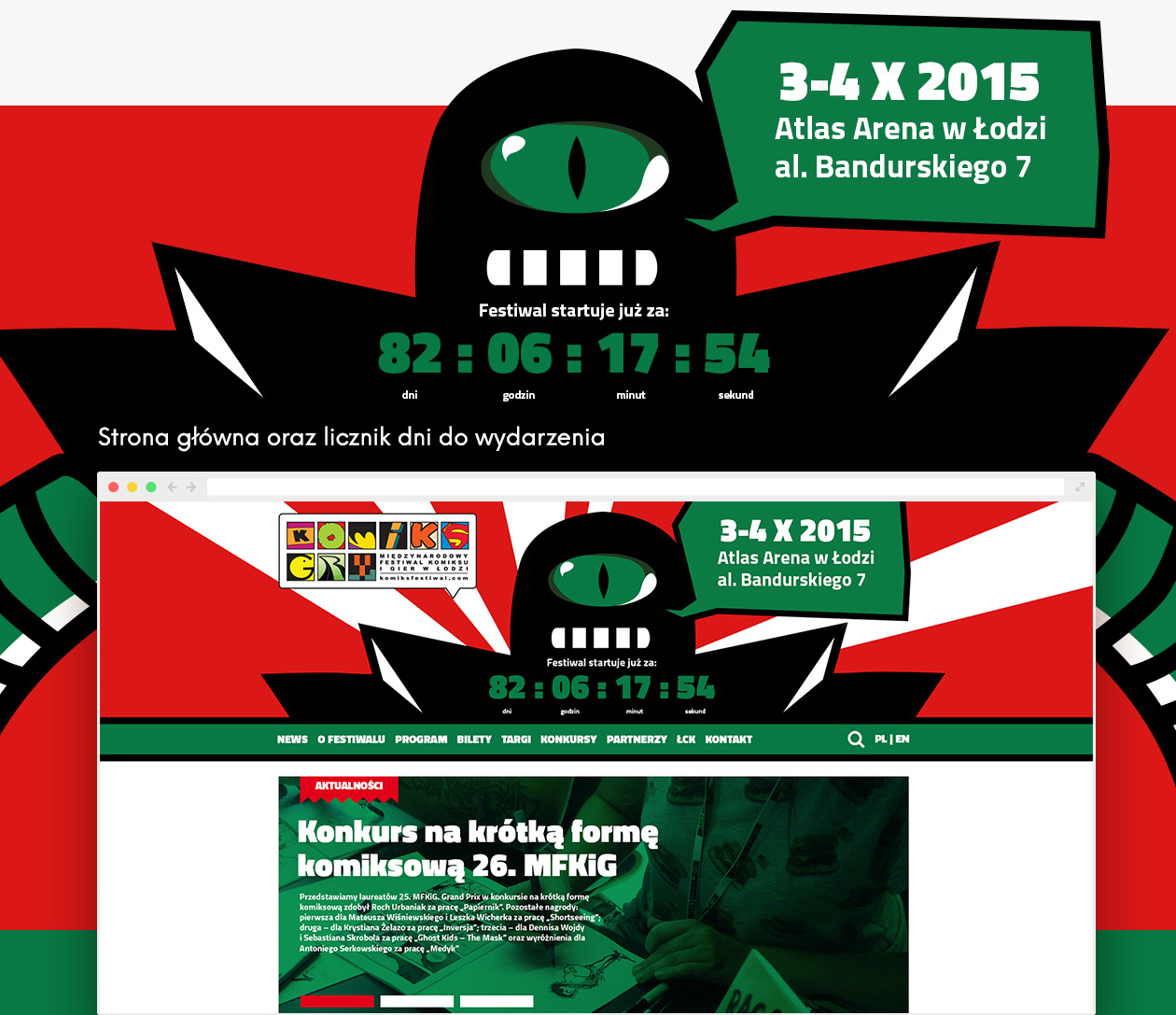 Projekt strony Festiwal Komiksu