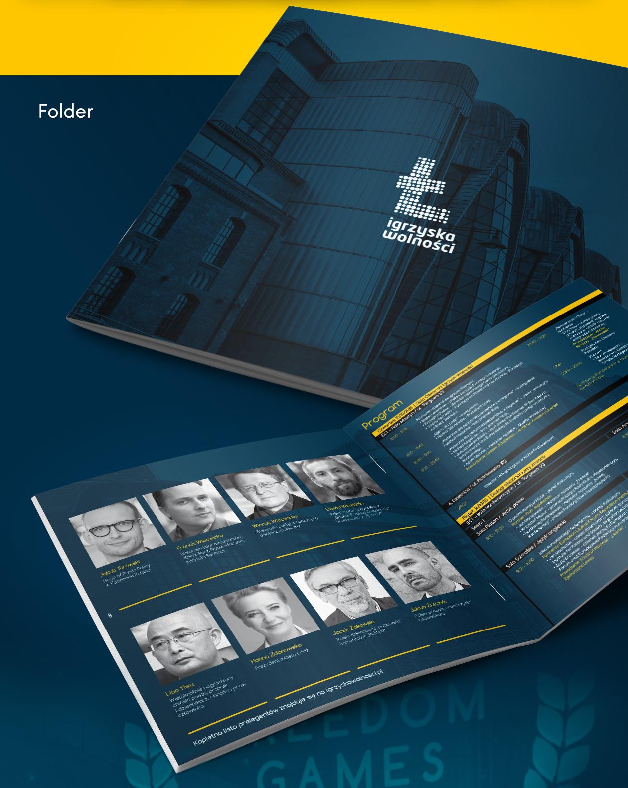 Projekt folderu Igrzyska Wolności