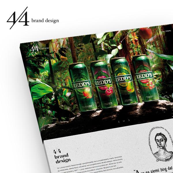 Cztery Czwarte - strona firmowa zrealizowana przez Quality Pixels