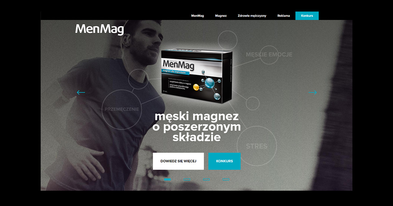 Projekt strony MenMag