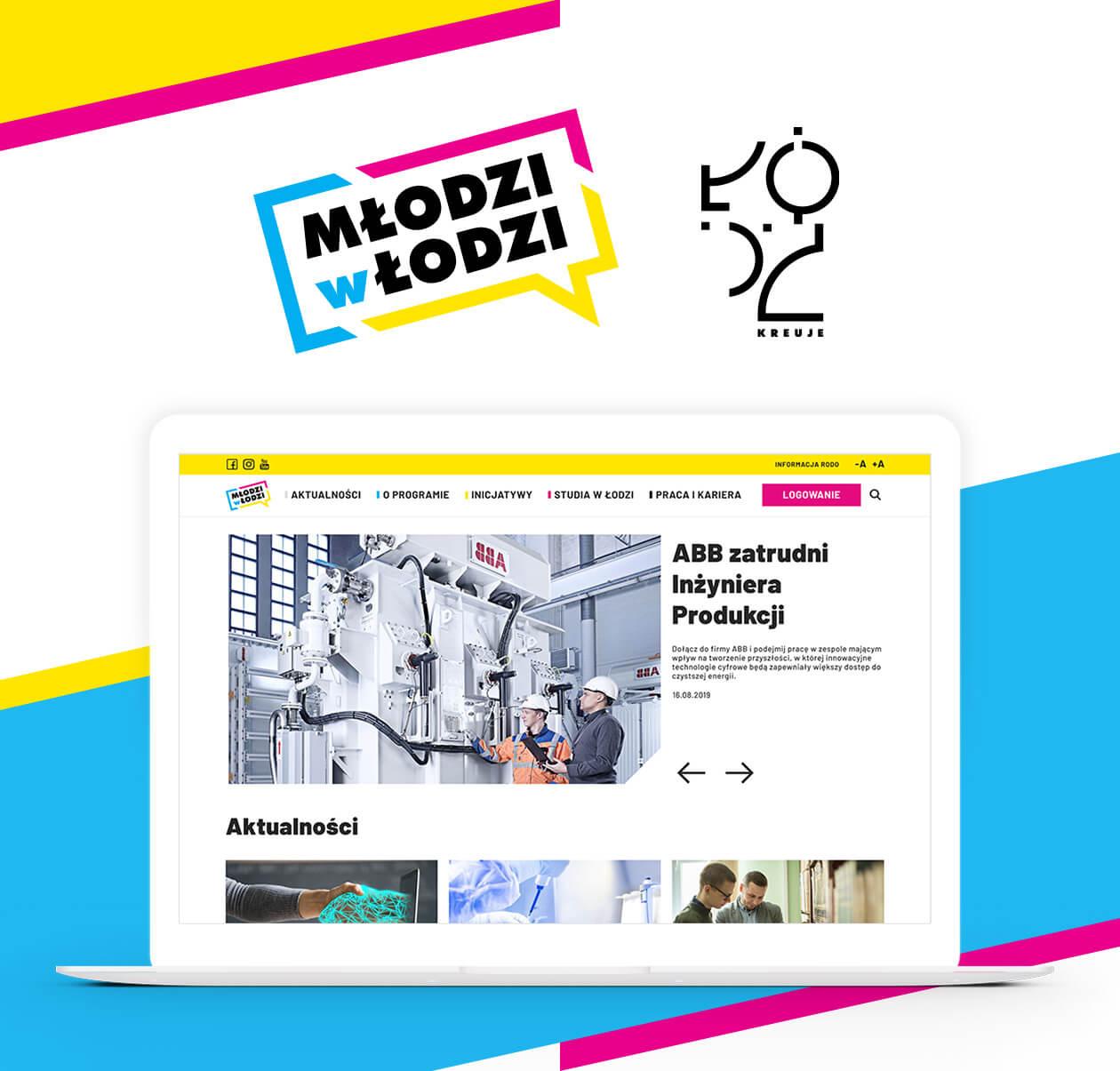 Strona Młodzi w Łodzi wykonana przez QualityPixels