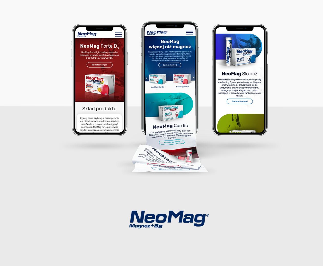 Strona dla Neomag wykonana przez Quality Pixels
