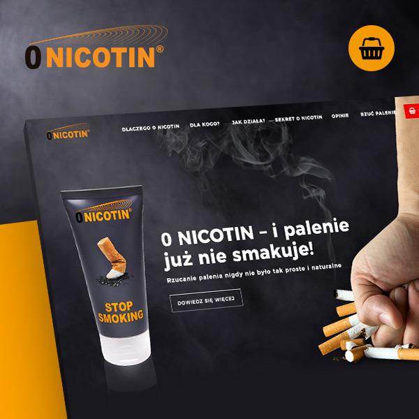 0 Nicotin -strona produktowa zrealizowana przez Quality Pixels