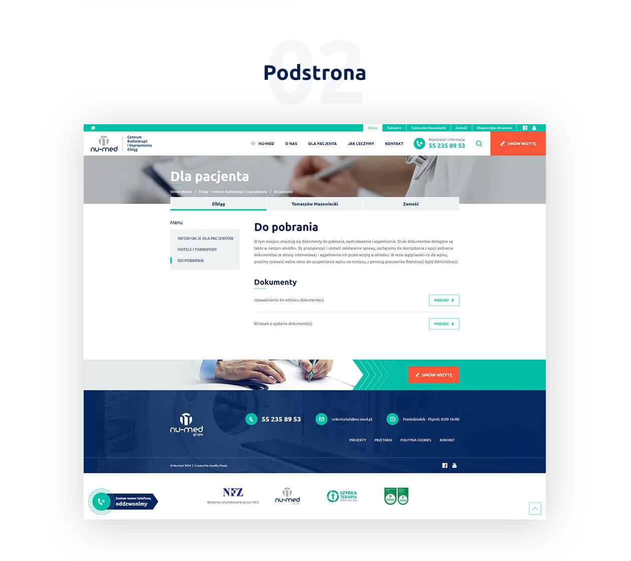 Strona Nu-med wykonana przez QualityPixels