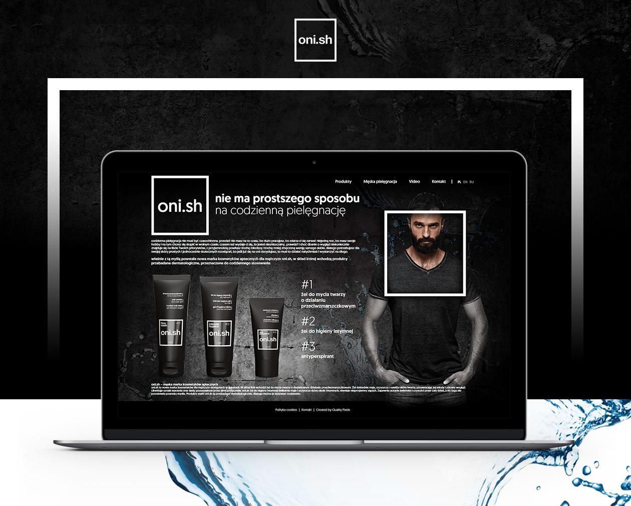 Projekt strony Onish