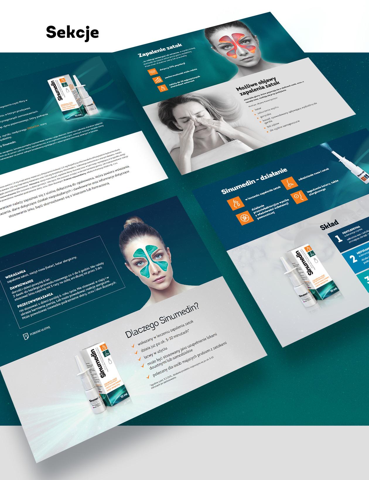 Sinumedin - strona produktowa zrealizowana przez Quality Pixels