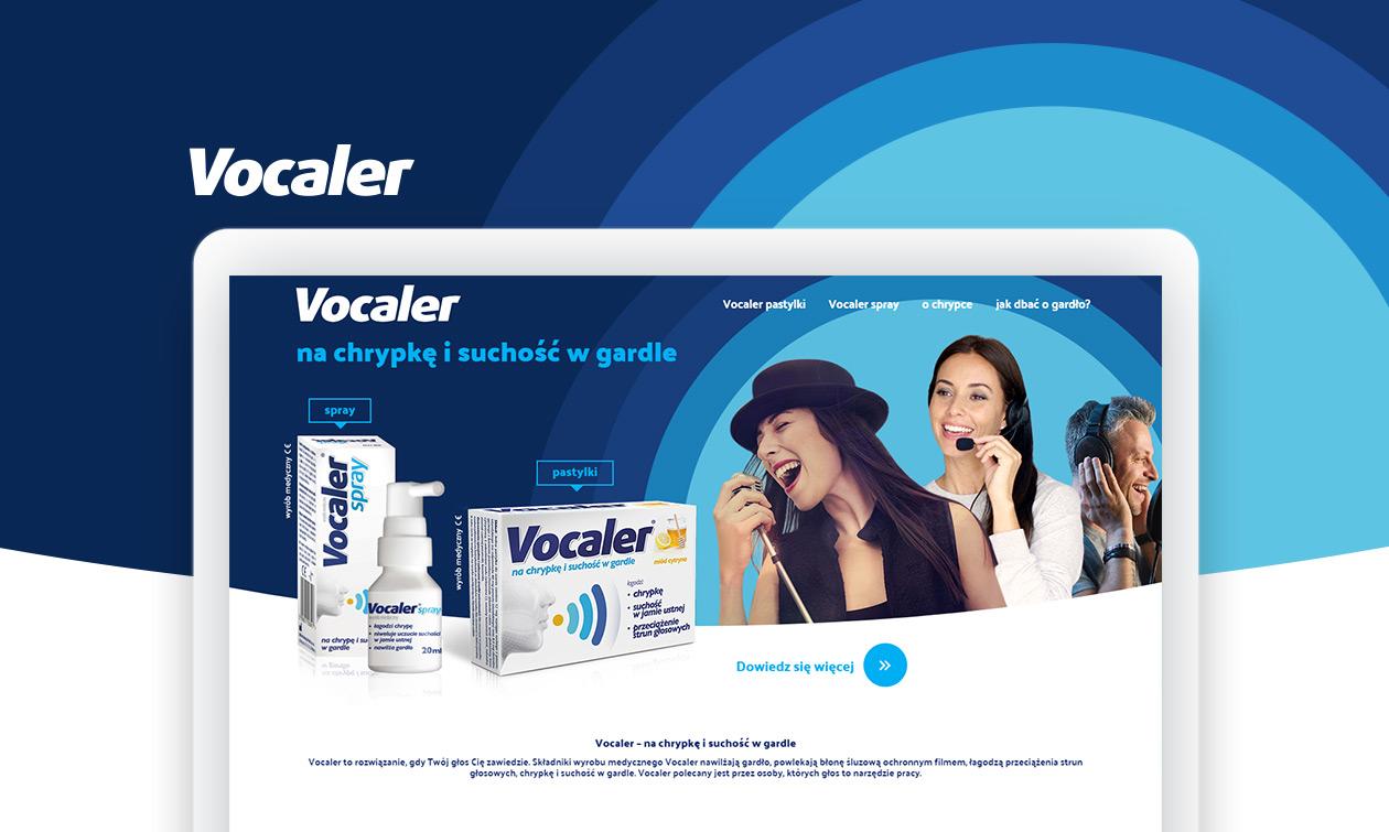 Vocaler - strona produktowa zrealizowana przez Quality Pixels